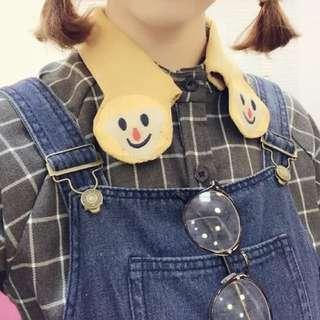 ❤️童趣娃娃領結格紋襯衫(領子可拆)