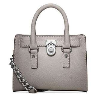 Michael Kors Mini Bag皮革手提包-灰