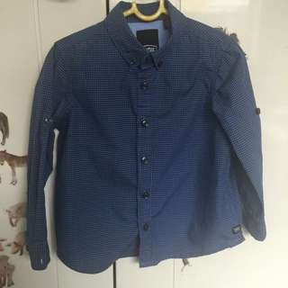 Boys Industrie Kids Navy Checked Shirt