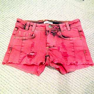 Pimpkie Distressed Denim Cut Offs