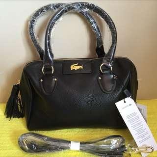 Lacoste Shoulder / Sling Bag. Black. Bnwt