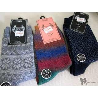 兔毛混羊毛 保暖襪
