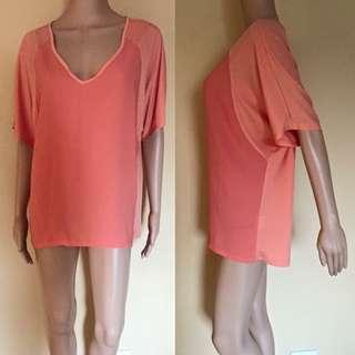 Oversized Orange Shirt/Dress