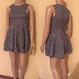 Black With White Polka Dot Pin-Up Retro Dress