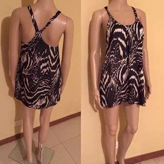Black & White Silky Flowy Summer Dress
