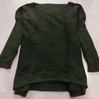 💲全新-墨綠色針織百搭毛衣💲