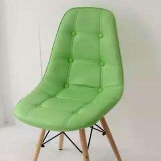 MIT台灣製 北歐高質感PU皮革餐椅(綠色)