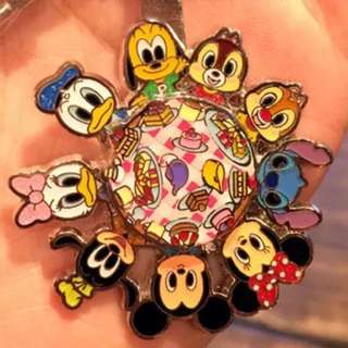 香港迪士尼代購摩天輪轉盤鑰匙圈