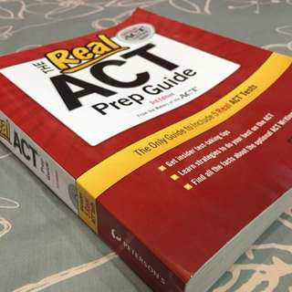 (40% off) Official ACT Test Prep guide (Most updated/ Useable For 2016)