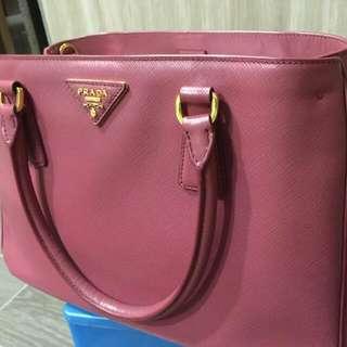 Prada Saffiano Tote Bag W Strap