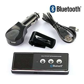 Car Bluetooth Handsfree Kit Multipoint Speakerphone Rechargeable