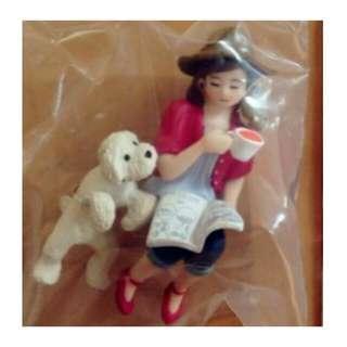 【售】杯緣子 二代隱藏版 《紅衣女孩和米色狗狗~喝下午茶款》