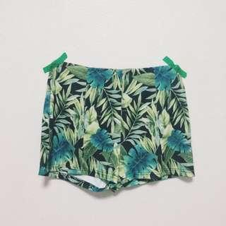 F21 Highwaisted Tropical Shorts