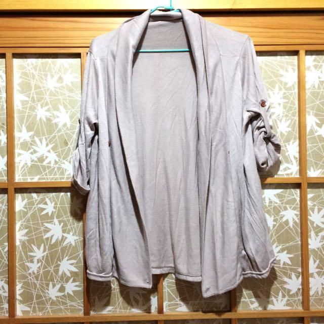 (特價!)可可色可反摺七分袖2 Way外套 #三百元外套