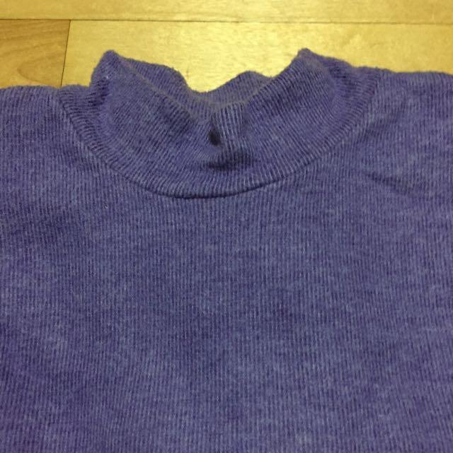 淡葡萄紫絨毛立領內搭(冬款)