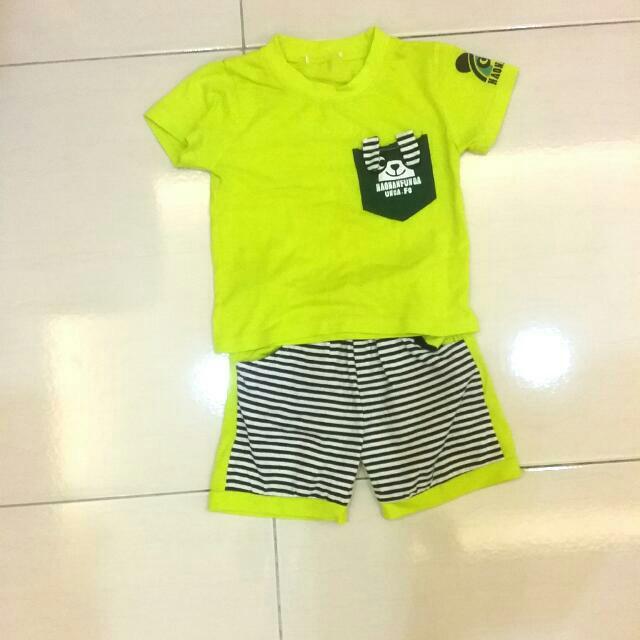 芥末綠兒童套裝