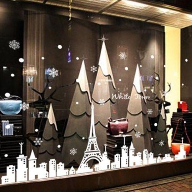 聖誕壁貼_白色聖誕
