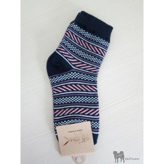 韓國製 波紋 圖案 女襪
