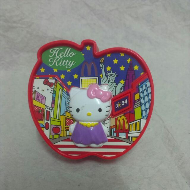 麥當勞 絕版 玩具 三麗鷗 hello Kitty 凱蒂貓造型置物盒
