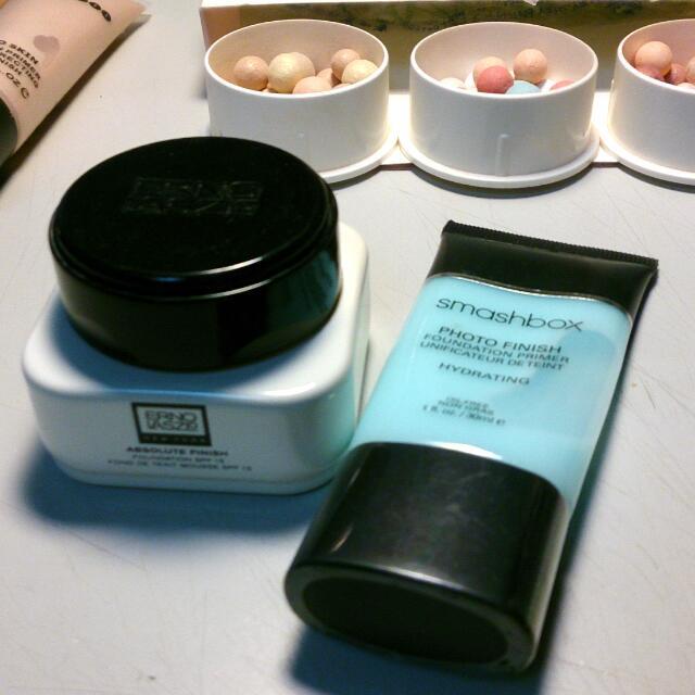 (組合,含運) 奧倫納素 粉霜 + Smashbox 妝前保濕
