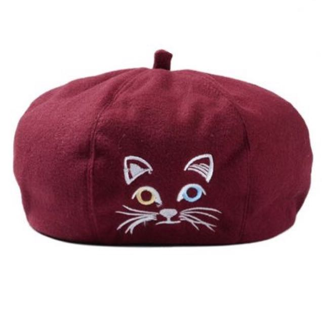 【 HedoneReport 4Her 1207 】Sweet Meow Beret Hat