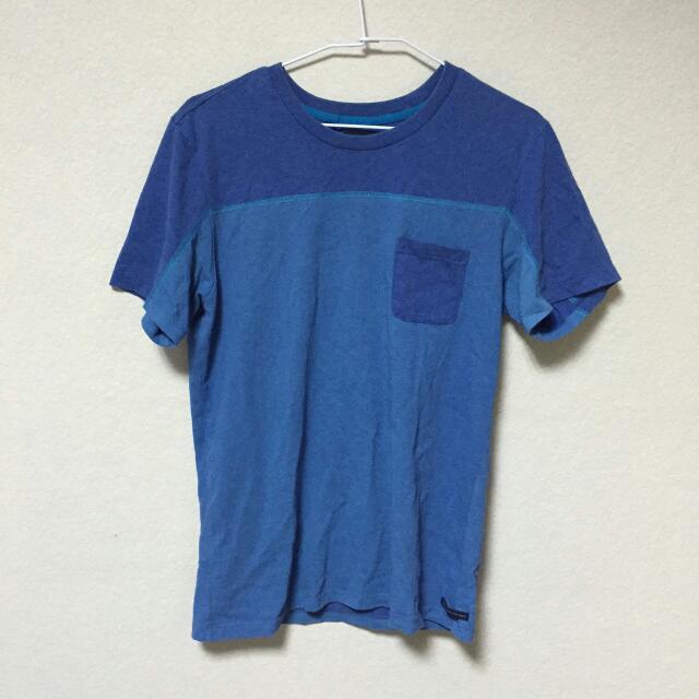adlib藍色短T