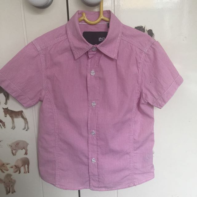 Boys Industrie Kids Pink/red Shirt