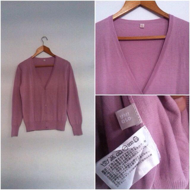 Cardigan Uniqlo Size L. Good Condition No Defect!🙌🏻😁