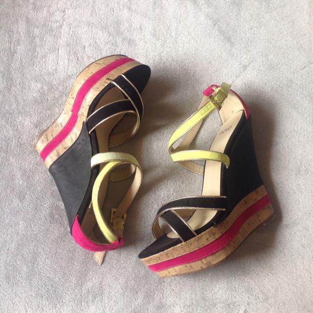 Colorful Cork Heels FREE*
