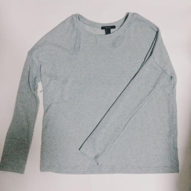 F21 Dusty Blue Sweater
