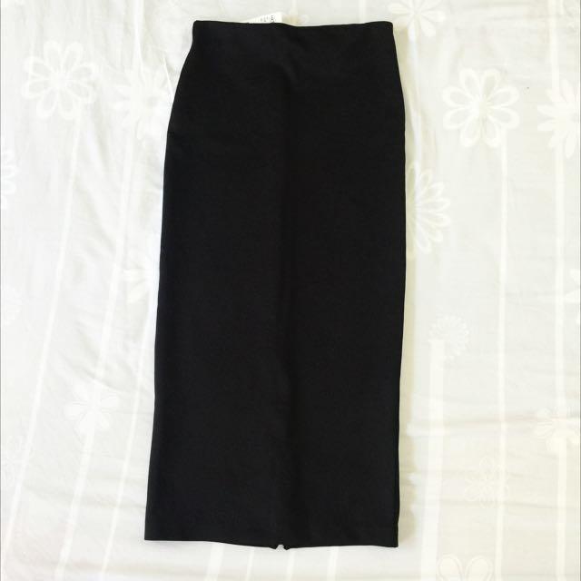 💖全新💖吊牌還在!香港購入H&M黑色窄裙