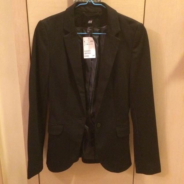 H&M 西裝外套 黑色 女款