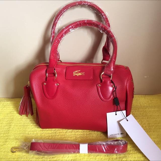Lacoste Shoulder / Sling Bag. Red. Bnwt