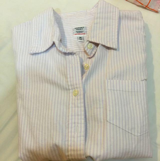 Lativ 純棉短袖襯衫