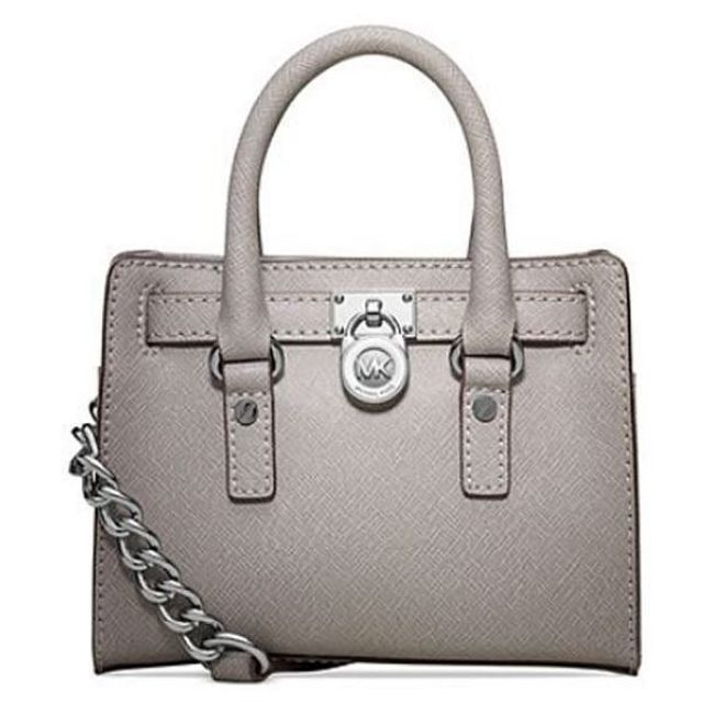 Michael Kors Mini Bag皮革手提包-灰