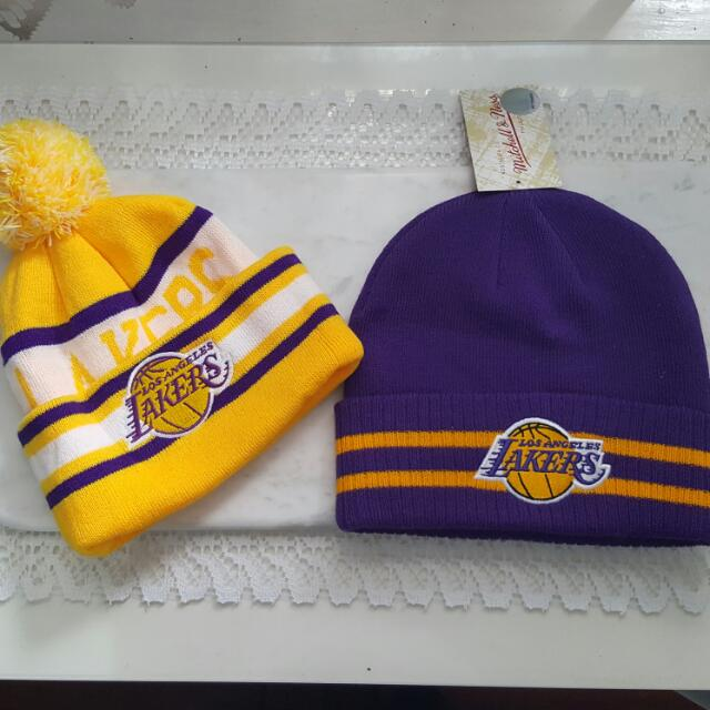 Mitchell And Ness NBA BEANIES For Him And Her BRAND NEW LAKERS