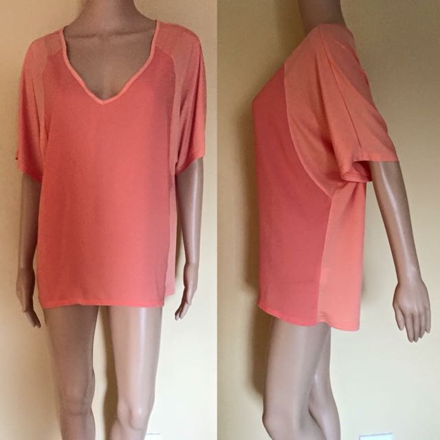 Oversized Orange Shirt/Dress