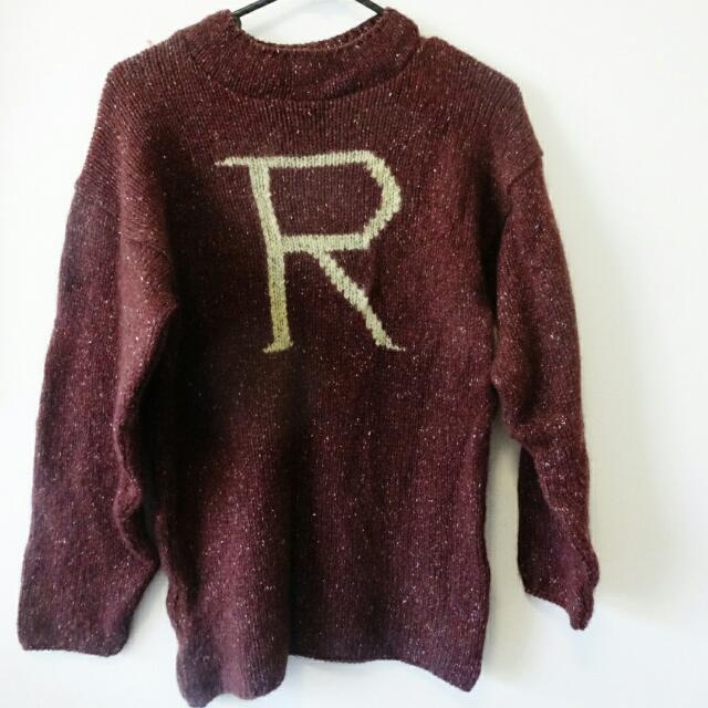 S Ron Weasley Knit Jumper Harry Potter Womens Fashion On Carousell