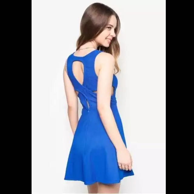Something Borrowed Cutout Back Fit & Flare Dress