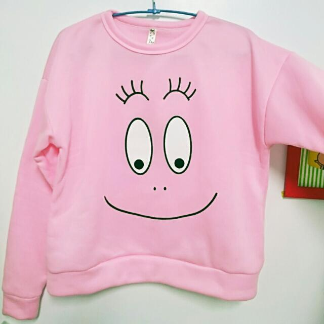 降!泡泡先生粉紅大學T ♥冬季暖暖必備(保留)
