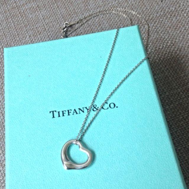 正品二手Tiffany Open Heart項鍊