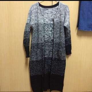 (二手)長版漸層針織外套 超保暖