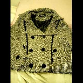 千鳥格短版鋪棉外套(含運)