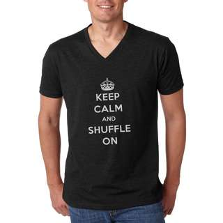 BNWT Covet Dance Wear Keep Calm and Shuffle On - Unisex V-Neck Tee