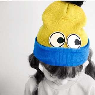 (正韓童裝)眼睛球球毛帽 親子裝必備