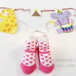 愛心寶寶襪