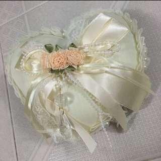 NEW - Heart Shape Wedding Ring Pillow
