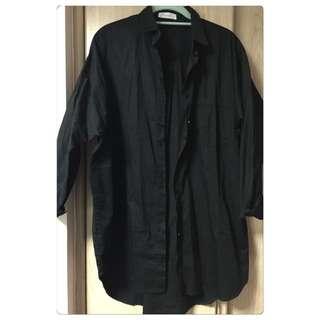 ✨merrier Q 飛鼠袖黑色襯衫外套💕