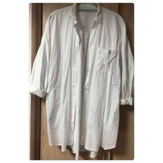 ✨merrier Q飛鼠袖白色襯衫外套✨