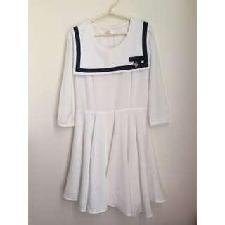 海軍風質感連身裙